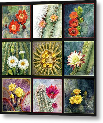 Metal Print featuring the painting Cactus Series by Marilyn Smith