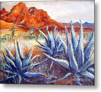 Cactus View Metal Print