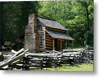 Metal Print featuring the photograph Cade's Cove Cabin by John Black