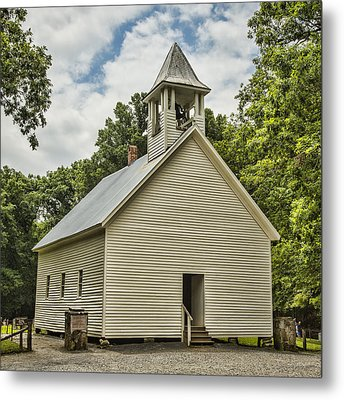 Cades Cove Primitive Baptist Church Metal Print by Stephen Stookey