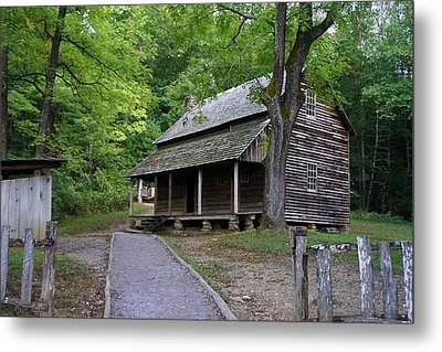 Cades Homestead Metal Print by Laurie Perry