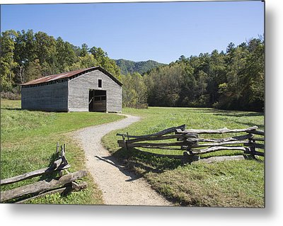 Cades Stables Metal Print by Ricky Dean