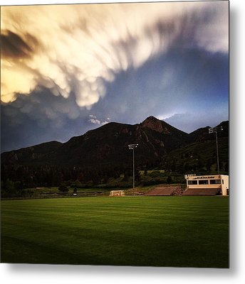 Metal Print featuring the photograph Cadet Soccer Stadium by Christin Brodie