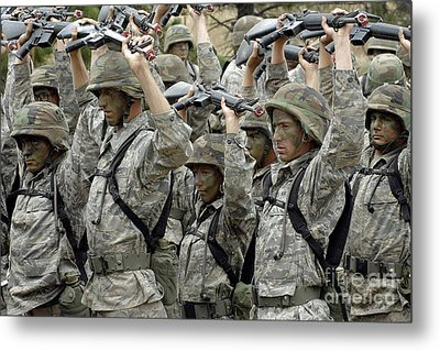 Cadets Prepare To Participate Metal Print by Stocktrek Images