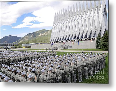 Cadets Recite The Oath Of Allegiance Metal Print by Stocktrek Images