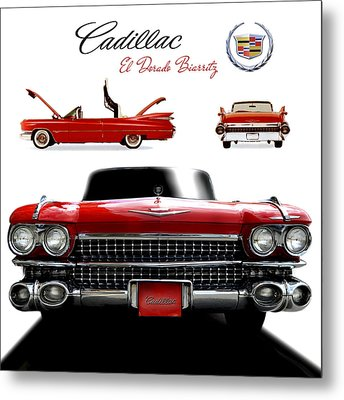 Metal Print featuring the photograph Cadillac 1959 by Gina Dsgn