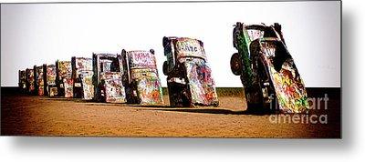 Cadillac Ranch 3 Metal Print by Bob Christopher