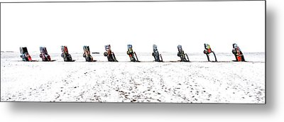 Cadillac Ranch Whiteout 001 Metal Print