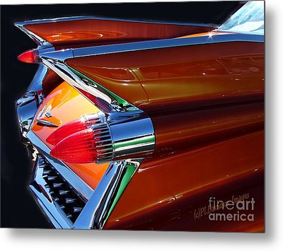 Metal Print featuring the photograph Cadillac Tail Fin View by Patricia L Davidson