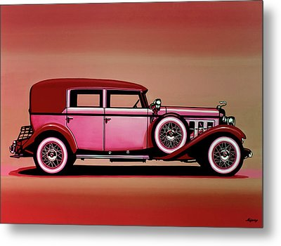 Cadillac V16 Mixed Media Metal Print by Paul Meijering