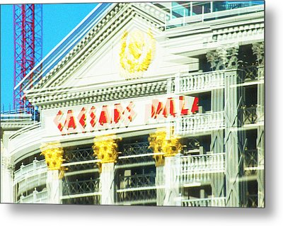 Caesar's Palace Hung Over View Metal Print by Richard Henne