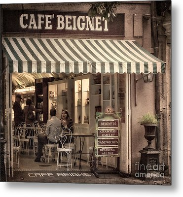 Cafe Beignet 2 Metal Print