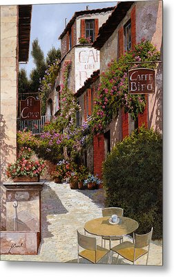 Cafe Bifo Metal Print by Guido Borelli