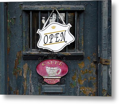 Cafe Cappuccino Metal Print by David Lee Thompson