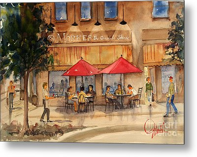 Cafe Chocolate Metal Print