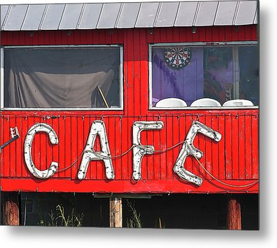 Cafe Metal Print by John Hix