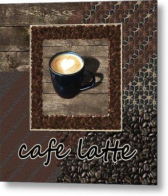 Cafe Latte - Coffee Art Metal Print