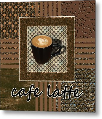 Metal Print featuring the photograph Cafe Latte - Coffee Art - Caramel by Anastasiya Malakhova