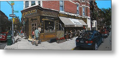 Cafe Moutarde Metal Print by Ted Papoulas