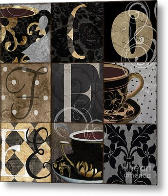 Cafe Noir Patchwork Metal Print by Mindy Sommers