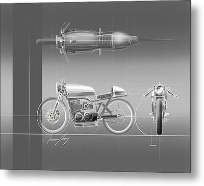 Cafe Racer Metal Print by Jeremy Lacy