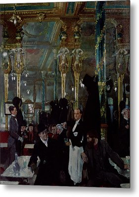 Cafe Royal, London, 1912 Metal Print by Sir William Orpen