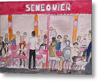 Cafe Senequier St Tropez 2012 Metal Print by Bill White