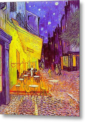 Cafe Terrace 1888 Metal Print by Padre Art