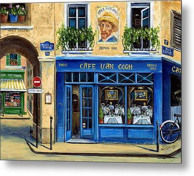 Cafe Van Gogh II Metal Print by Marilyn Dunlap