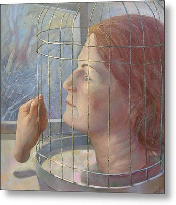 Caged Metal Print by Alla Parsons