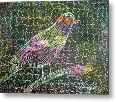 Caged Bird Metal Print by Marita McVeigh