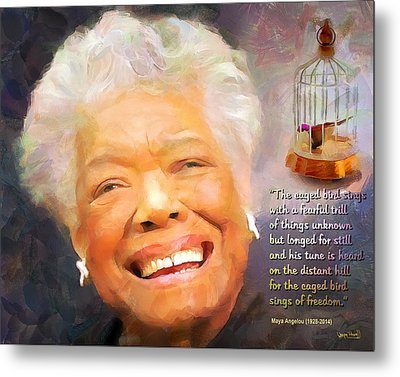 The Caged Bird Sings - Tribute To Maya Angelou Metal Print
