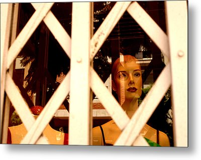 Caged For Lunch Metal Print by Jez C Self