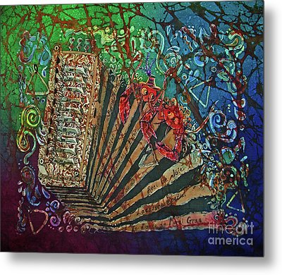 Cajun Accordian Metal Print by Sue Duda