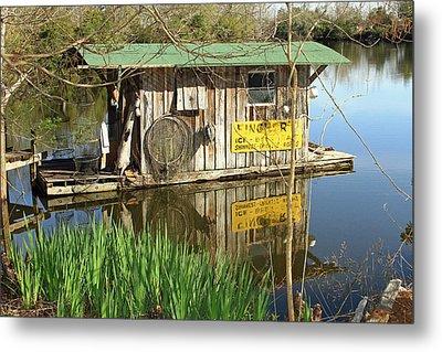 Cajun Houseboat Metal Print