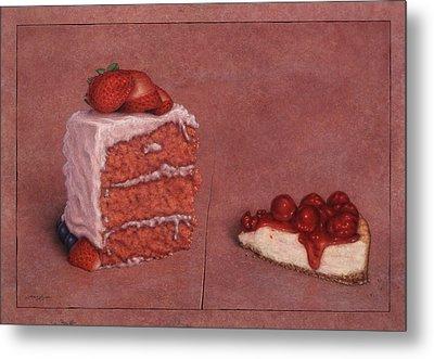 Cakefrontation Metal Print