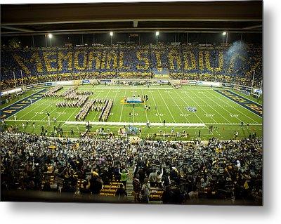 Cal Memorial Stadium On Game Day Metal Print by Replay Photos