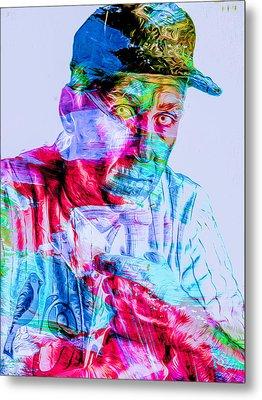 Cal Ripken Jr Baltimore Oriole Painted Digitally Metal Print by David Haskett