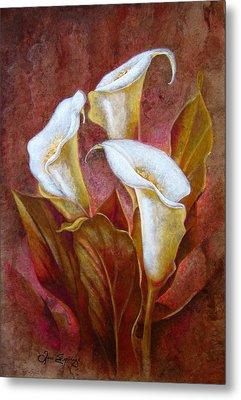 Cala Lillies Bouquet Metal Print