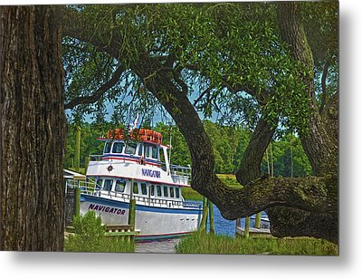 Calabash Deep Sea Fishing Boat Metal Print