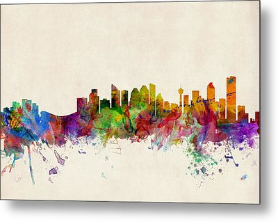 Calgary Skyline Metal Print by Michael Tompsett