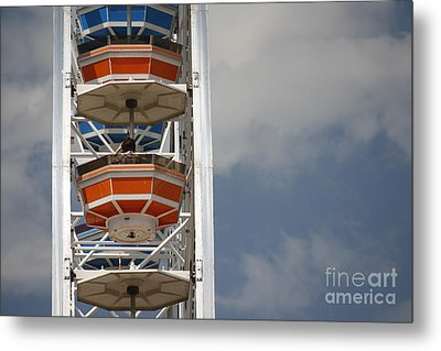 Metal Print featuring the photograph Calgary Stampede Ferris Wheel by Wilko Van de Kamp
