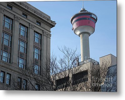 Metal Print featuring the photograph Calgary Tower by Wilko Van de Kamp