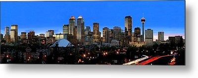 Calgarys Skyline Metal Print by Richard Wear