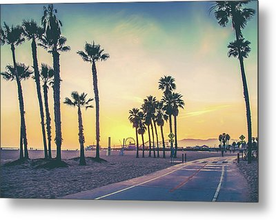 Metal Print featuring the photograph Cali Sunset by Az Jackson