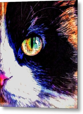 Calico Cat Metal Print by Kathy Kelly