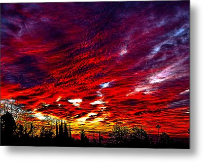 Sunrise In Los Angeles Metal Print