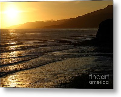 California Coast Sunset Metal Print by Balanced Art