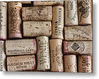 California Corks Metal Print