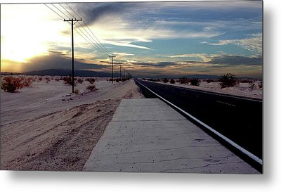 California Desert Highway Metal Print by Christopher Woods